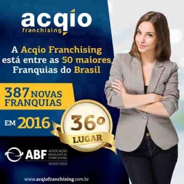 Rede de Franquias rio-pretense, Acqio Franchising, está entre as 50 maiores rede do país