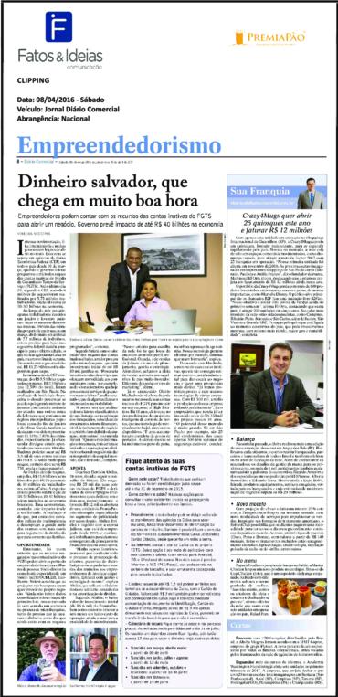 PREMIAPÃO NO Diário Comercial – 08/04/2017 – Dinheiro salvador, que chega em muito boa hora