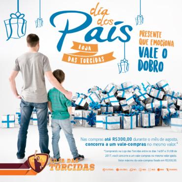 Dia dos Pais: Loja das Torcidas oferece promoção de vale-compras para seus clientes