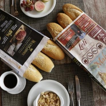 Franquia de propaganda em saco de pão bate recorde de vendas